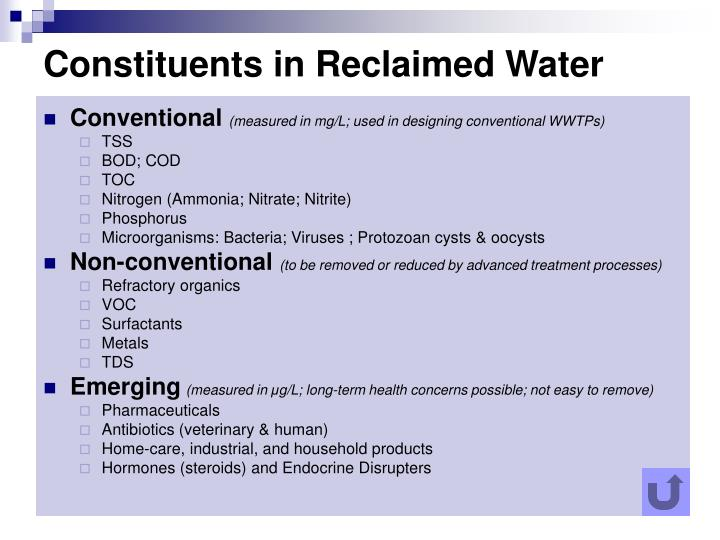 Constituents in Reclaimed Water
