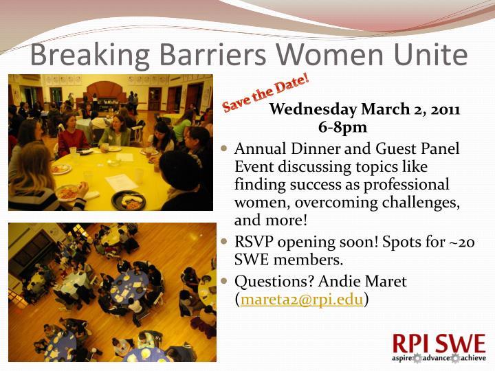 Breaking Barriers Women Unite