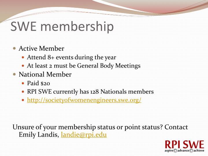 SWE membership