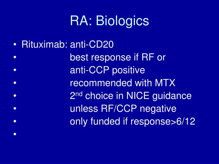 RA: Biologics