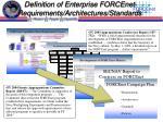 definition of enterprise forcenet requirements architectures standards