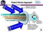 trident warrior approach