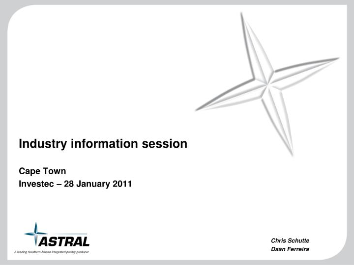 industry information session