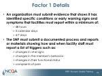factor 1 details