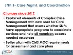 snp 1 care mgmt and coordination