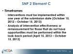 snp 2 element c1