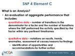 snp 4 element c2