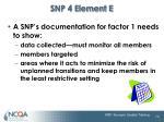snp 4 element e1