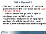 snp 4 element e4