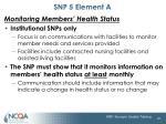 snp 5 element a