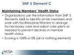 snp 5 element c