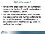 snp 6 element e1