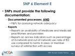 snp 6 element e6