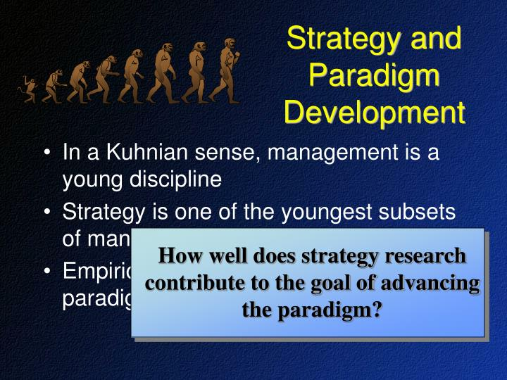 How well does strategy research contribute to the goal of advancing the paradigm?