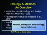 strategy methods an overview