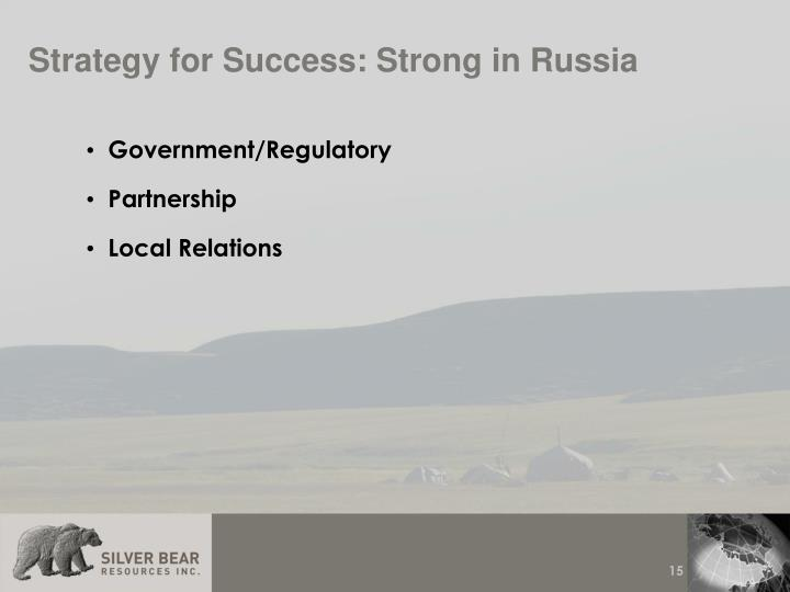Strategy for Success: Strong in Russia
