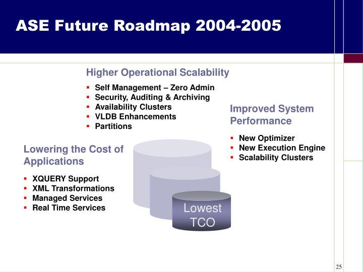 ASE Future Roadmap 2004-2005