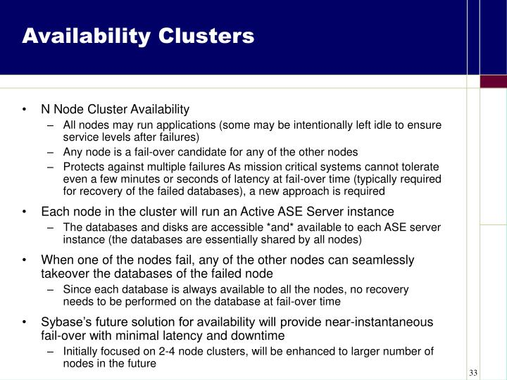 Availability Clusters
