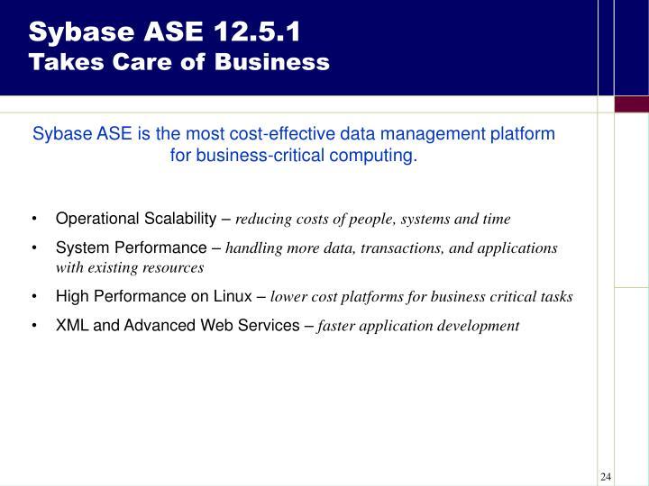 Sybase ASE 12.5.1