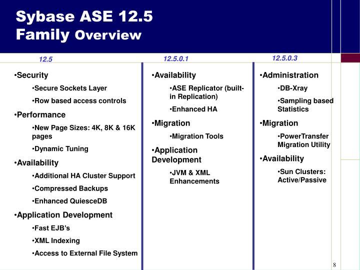 Sybase ASE 12.5