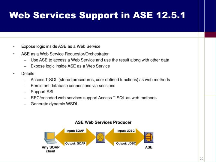 Expose logic inside ASE as a Web Service