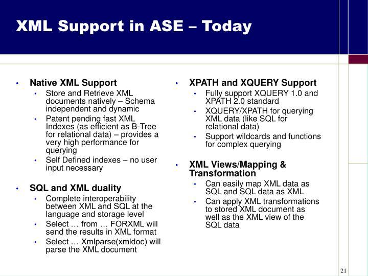 Native XML Support