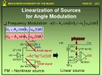 linearization of sources for angle modulation1