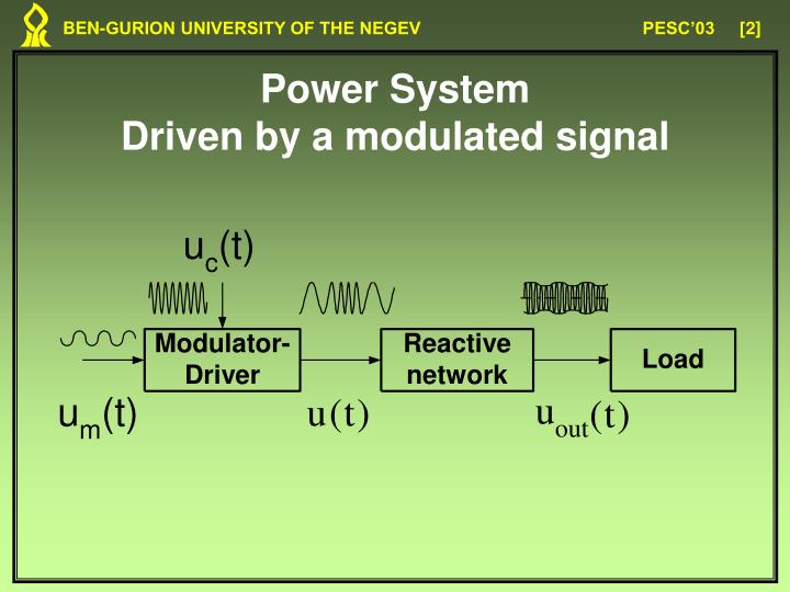 Power system driven by a modulated signal