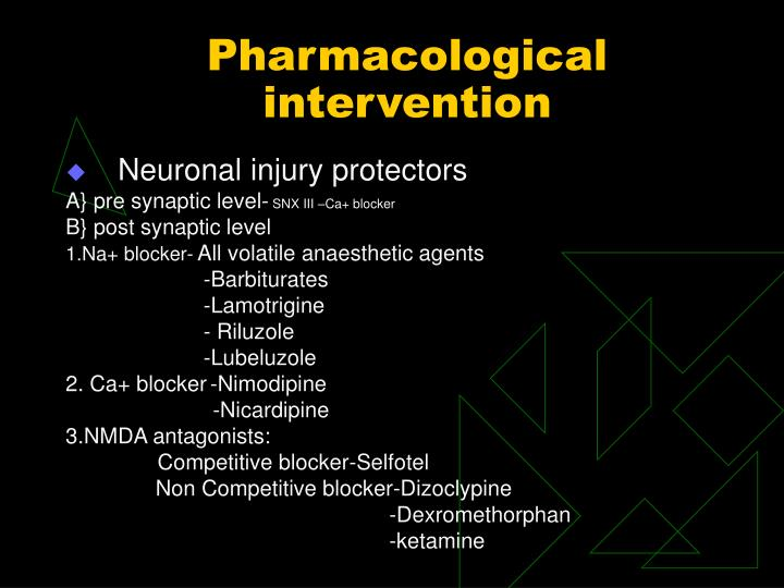 Pharmacological intervention