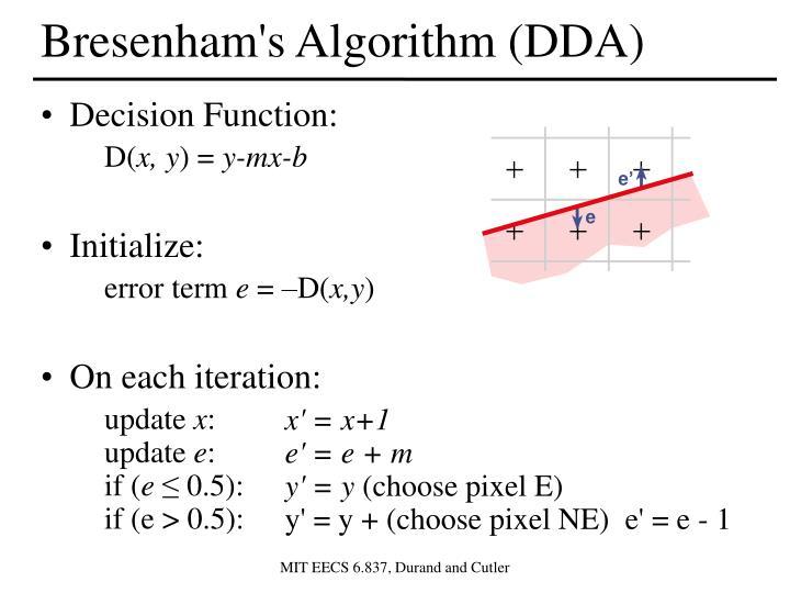 Bresenham's Algorithm (DDA)