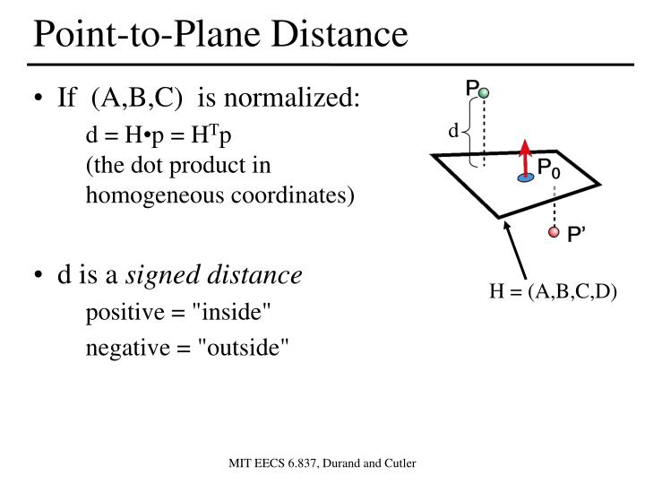 Point-to-Plane Distance