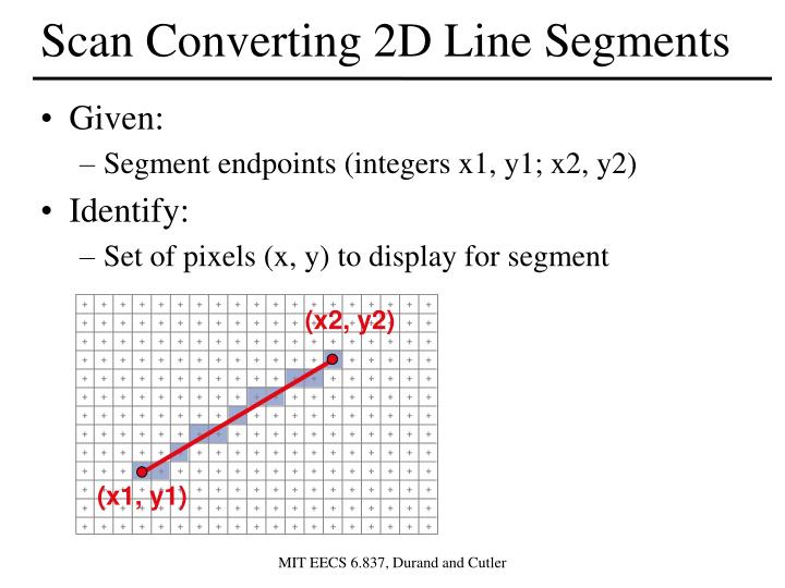 Scan Converting 2D Line Segments