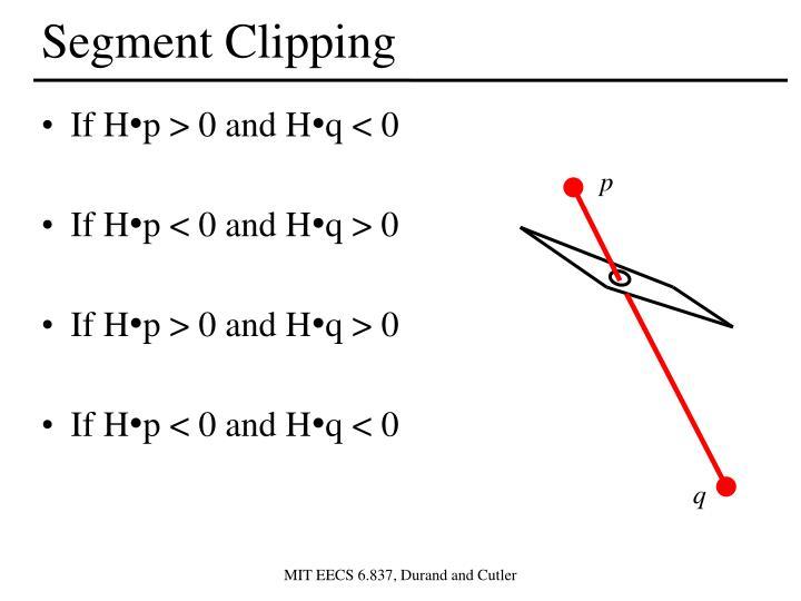 Segment Clipping