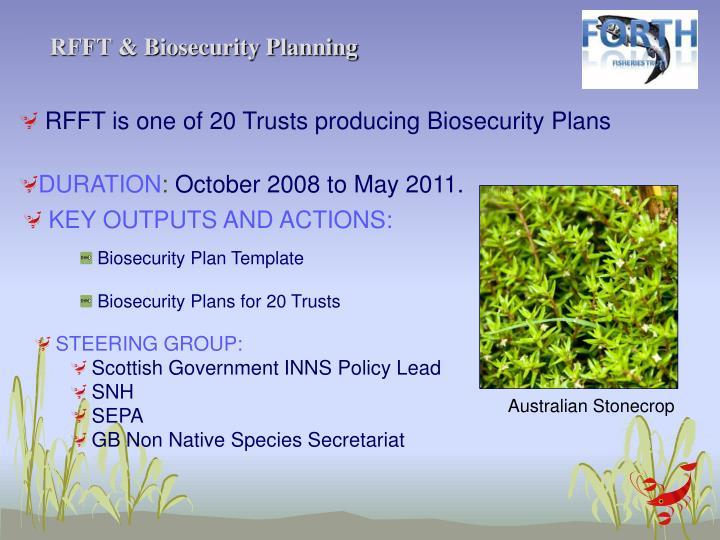 RFFT & Biosecurity Planning