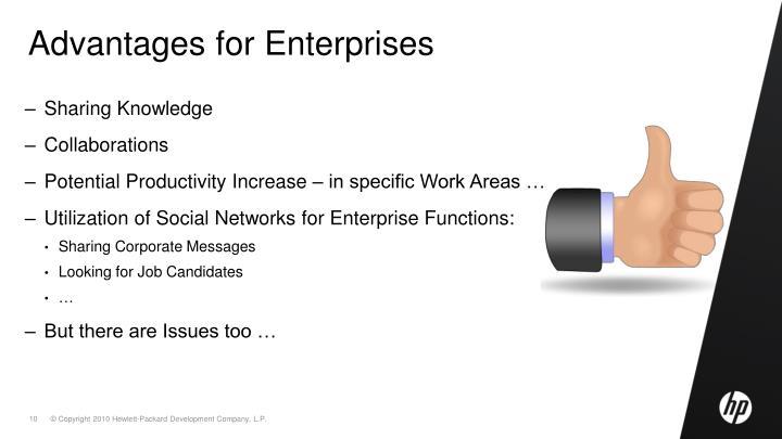 Advantages for Enterprises