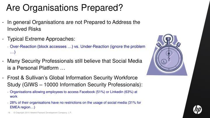 Are Organisations Prepared?