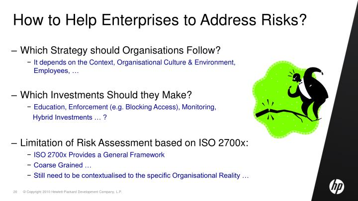 How to Help Enterprises to Address Risks?