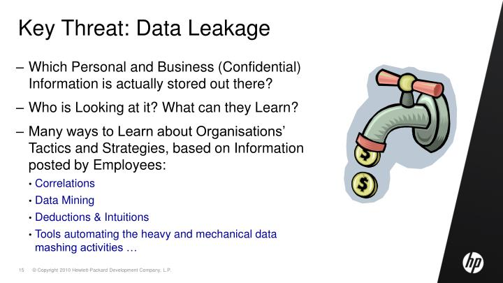 Key Threat: Data Leakage