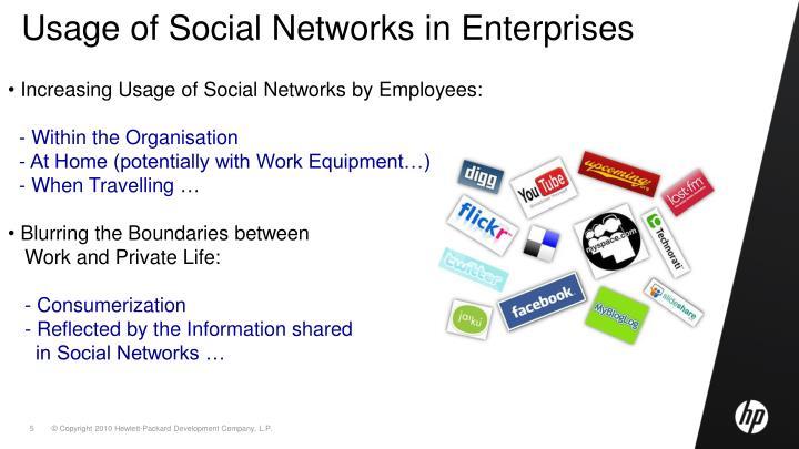 Usage of Social Networks in Enterprises