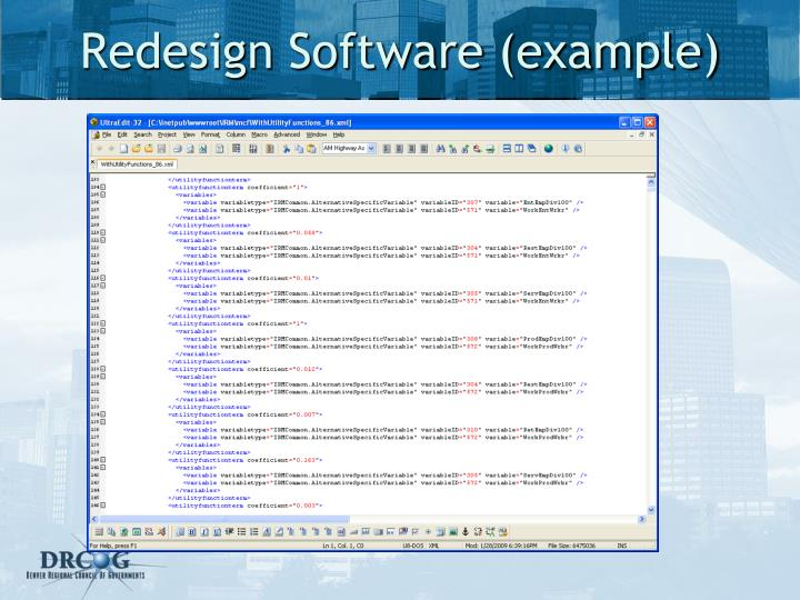 Redesign Software (example)