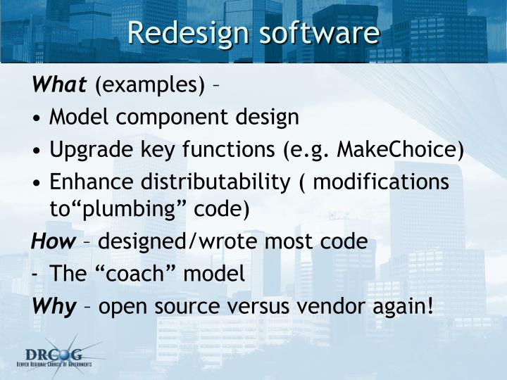 Redesign software