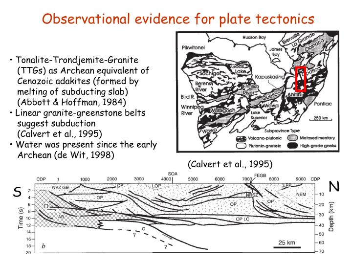 Observational evidence for plate tectonics