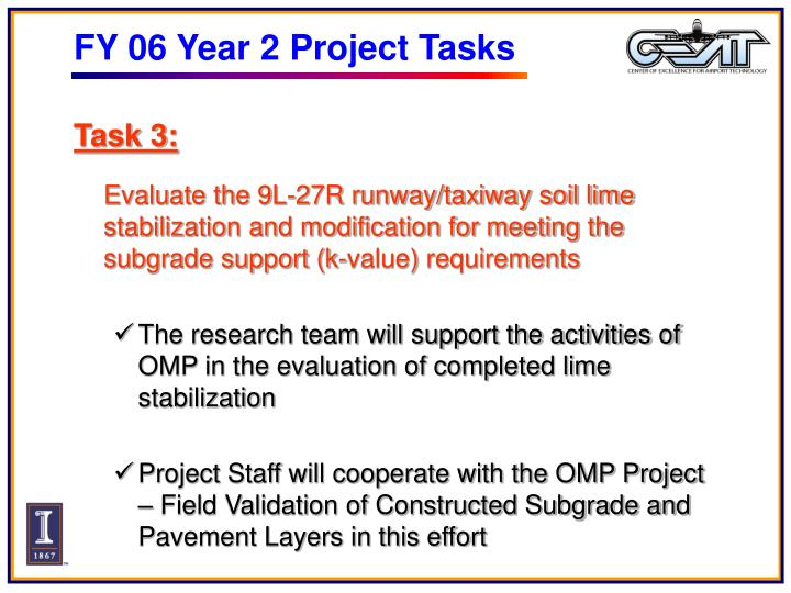 FY 06 Year 2 Project Tasks