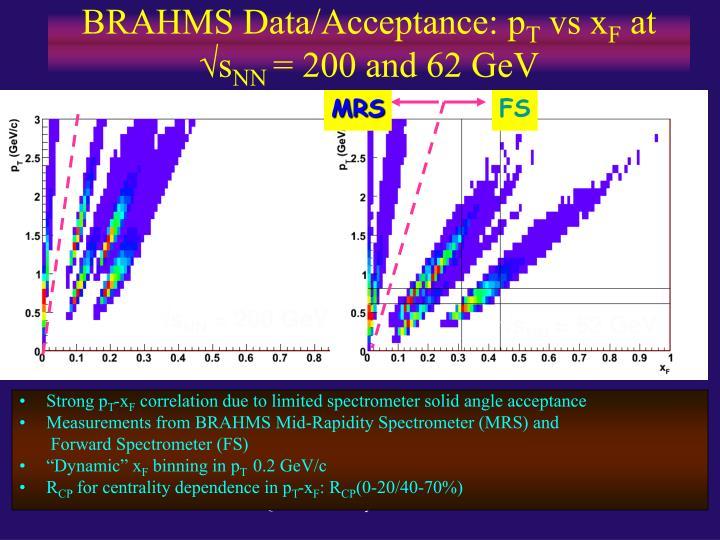 BRAHMS Data/Acceptance: p