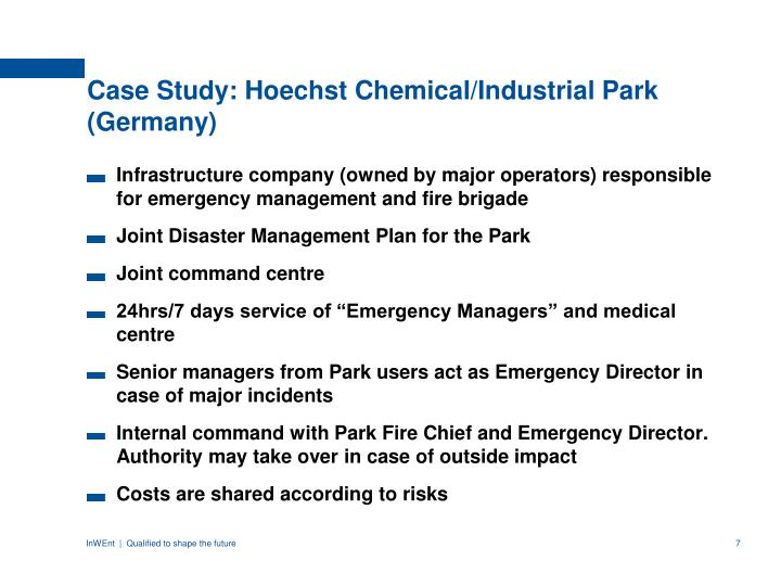 Case Study: Hoechst Chemical/Industrial Park (Germany)