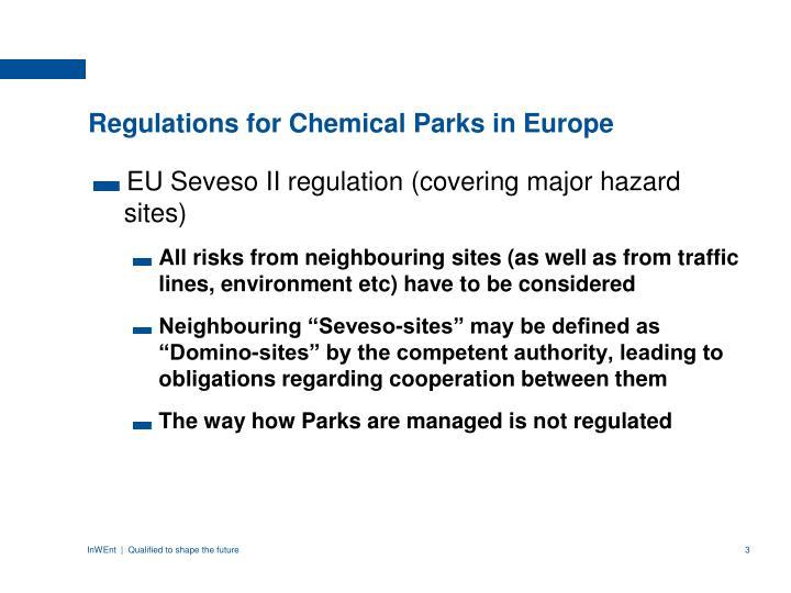 Regulations for chemical parks in europe
