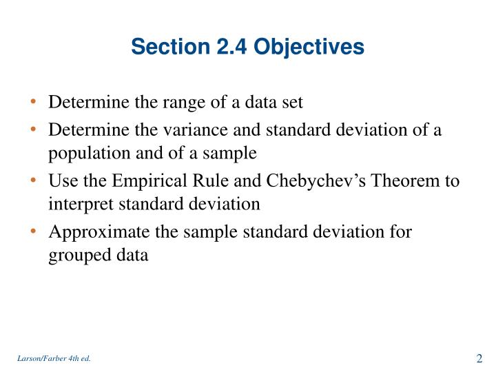 Section 2 4 objectives