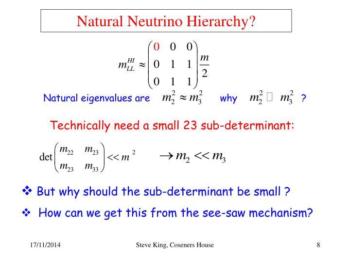 Natural Neutrino Hierarchy?