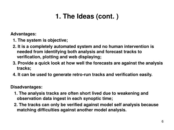 1. The Ideas (cont. )