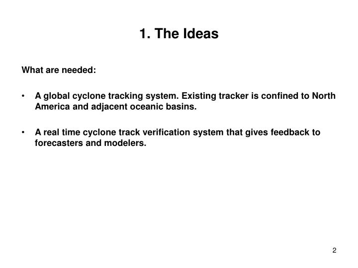 1. The Ideas